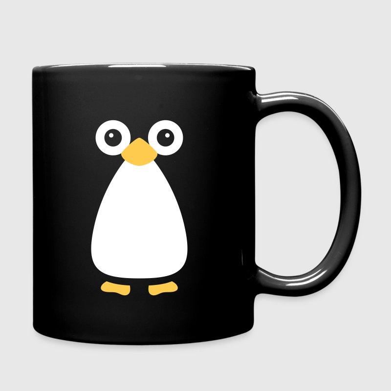 Cute Vector Penguin Black Mug - Full Colour Mug