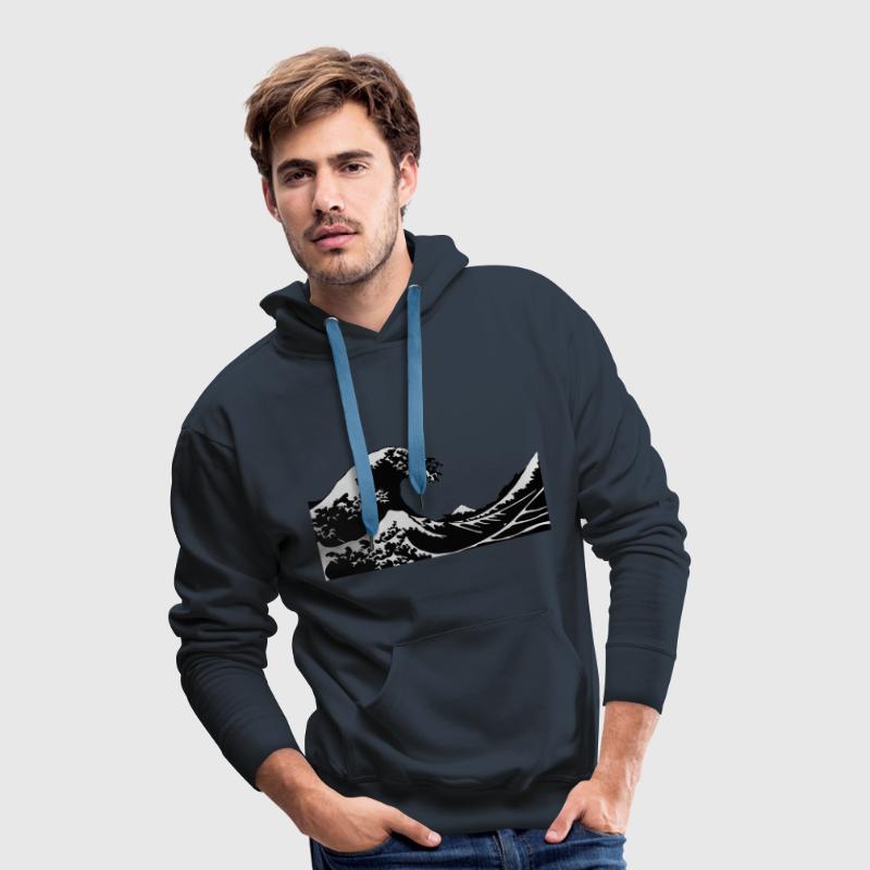 Wave - Vague Sweat-shirts - Sweat-shirt à capuche Premium pour hommes