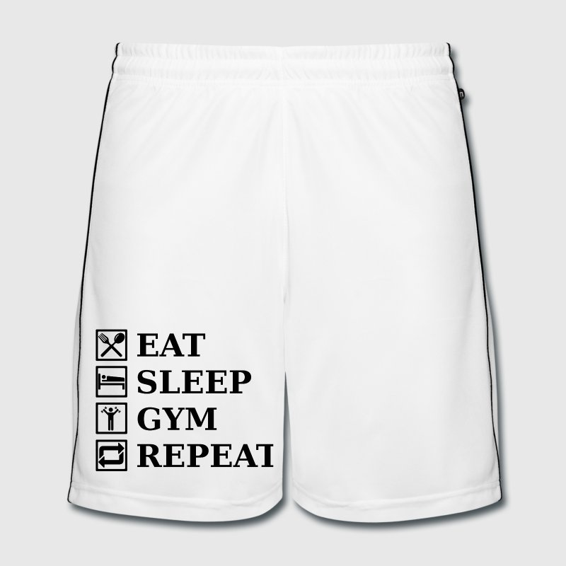EAT SLEEP GYM REPEAT Trousers & Shorts - Men's Football shorts