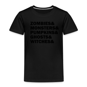 Zombies&monsters&Pumpkins&ghosts&witches - Kinder Premium T-Shirt