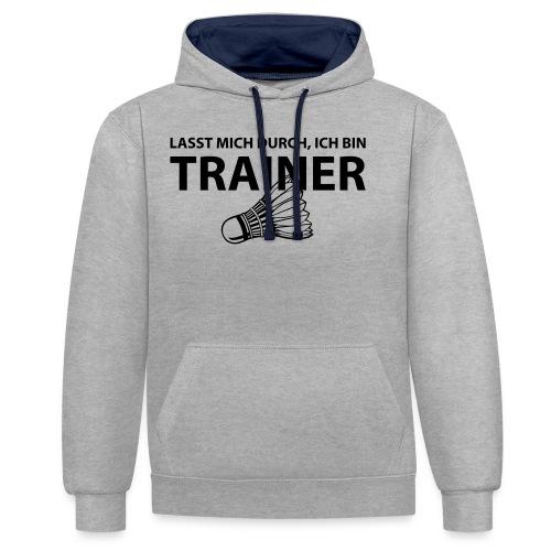 Trainer T-Shirt - Kontrast-Hoodie