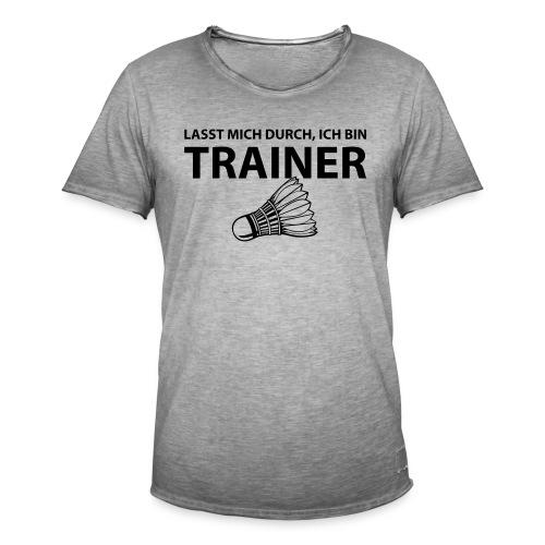 Trainer T-Shirt - Männer Vintage T-Shirt