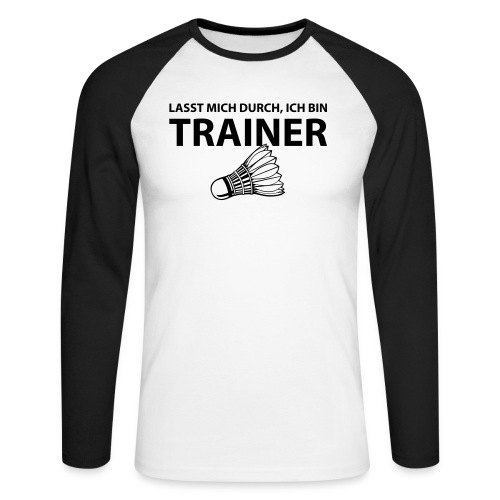 Trainer T-Shirt - Männer Baseballshirt langarm
