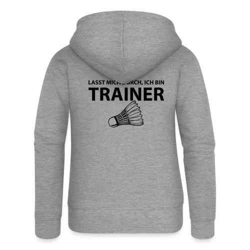 Trainer T-Shirt - Frauen Premium Kapuzenjacke