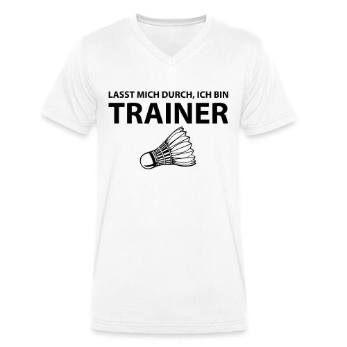 Trainer T-Shirt - Männer Bio-T-Shirt mit V-Ausschnitt von Stanley & Stella