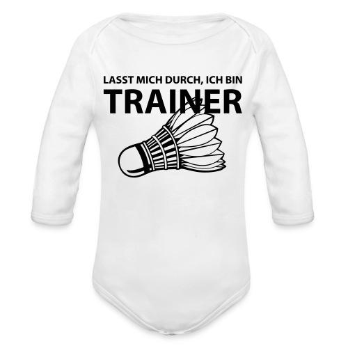 Trainer T-Shirt - Baby Bio-Langarm-Body