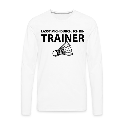 Trainer T-Shirt - Männer Premium Langarmshirt
