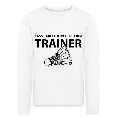 Trainer T-Shirt - Kinder Premium Langarmshirt