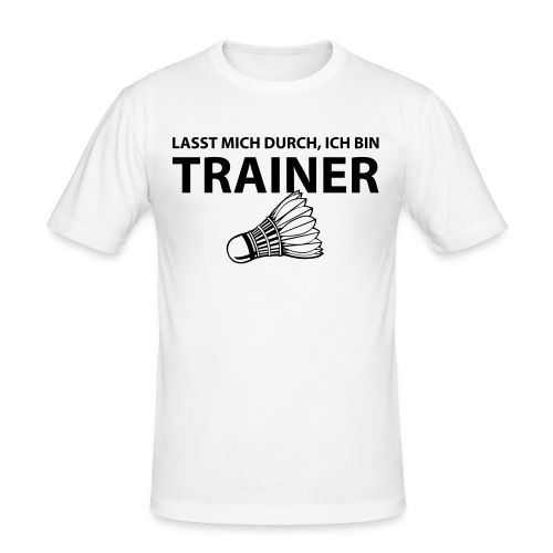 Trainer T-Shirt - Männer Slim Fit T-Shirt
