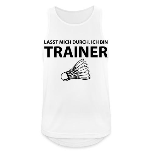 Trainer T-Shirt - Männer Tank Top atmungsaktiv