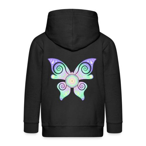 Flower Of Life - Butterfly - Kinder Premium Kapuzenjacke