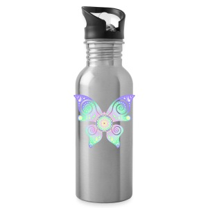 Flower Of Life - Butterfly - Trinkflasche