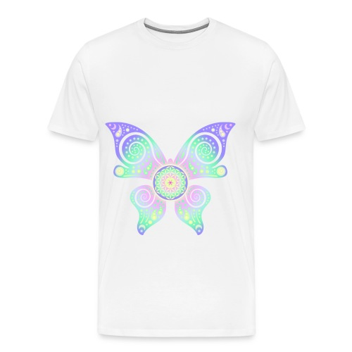 Flower Of Life - Butterfly - Männer Premium T-Shirt