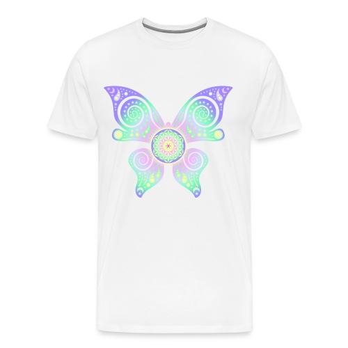 Flower Of Life - Butterfly - Männer Premium T-Shirt