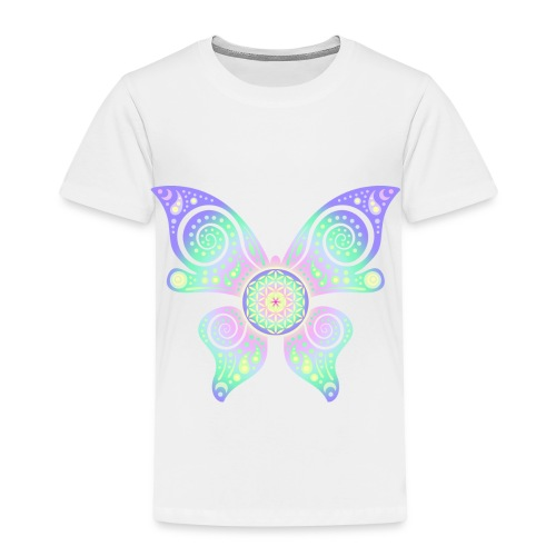 Flower Of Life - Butterfly - Kinder Premium T-Shirt