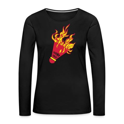 Kochschürze - Frauen Premium Langarmshirt