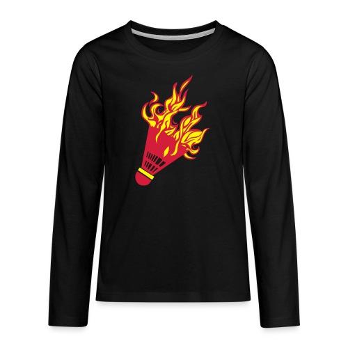 Kochschürze - Teenager Premium Langarmshirt