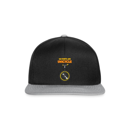 Go forth and Unicycle - Snapback Cap