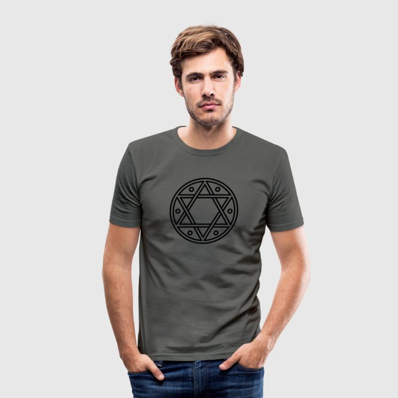 ✡ Hexagram, Magic, Merkaba, David Star, Solomon T-Shirts - Men's Slim Fit T-Shirt