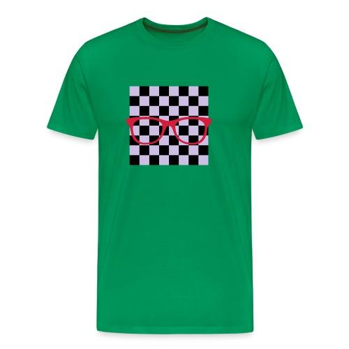 Nerdbrille Schachbrett - Männer Premium T-Shirt