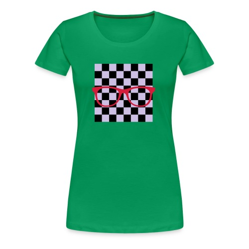 Nerdbrille Schachbrett - Frauen Premium T-Shirt