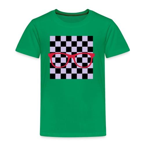 Nerdbrille Schachbrett - Kinder Premium T-Shirt