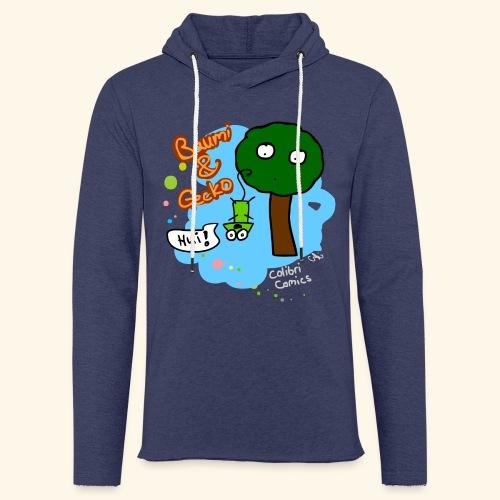 Baumi & Gecko - Leichtes Kapuzensweatshirt Unisex