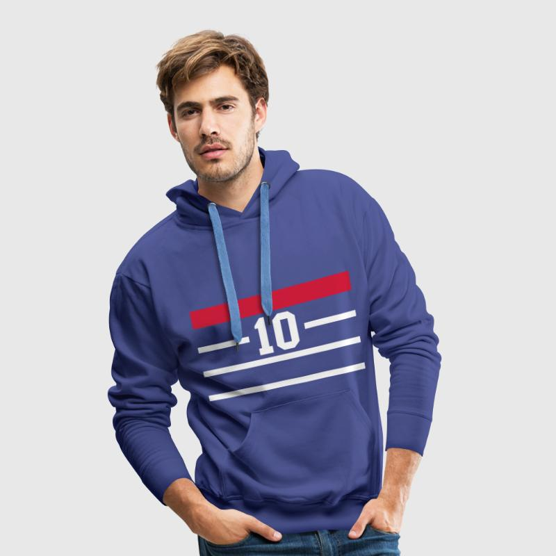 france 98 bleu Sweat-shirts - Sweat-shirt à capuche Premium pour hommes