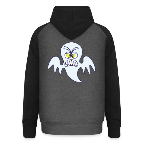 Scary Halloween Ghost Hoodies & Sweatshirts - Unisex Baseball Hoodie