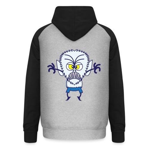 Scary Halloween Werewolf Hoodies & Sweatshirts - Unisex Baseball Hoodie