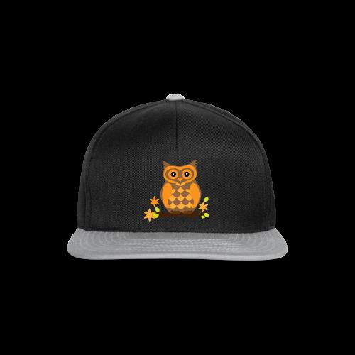 Eule Herren Shirt - Snapback Cap