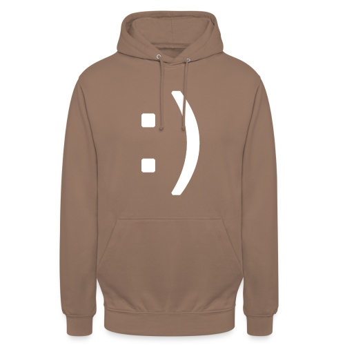 Happy smiley face in text - Unisex Hoodie