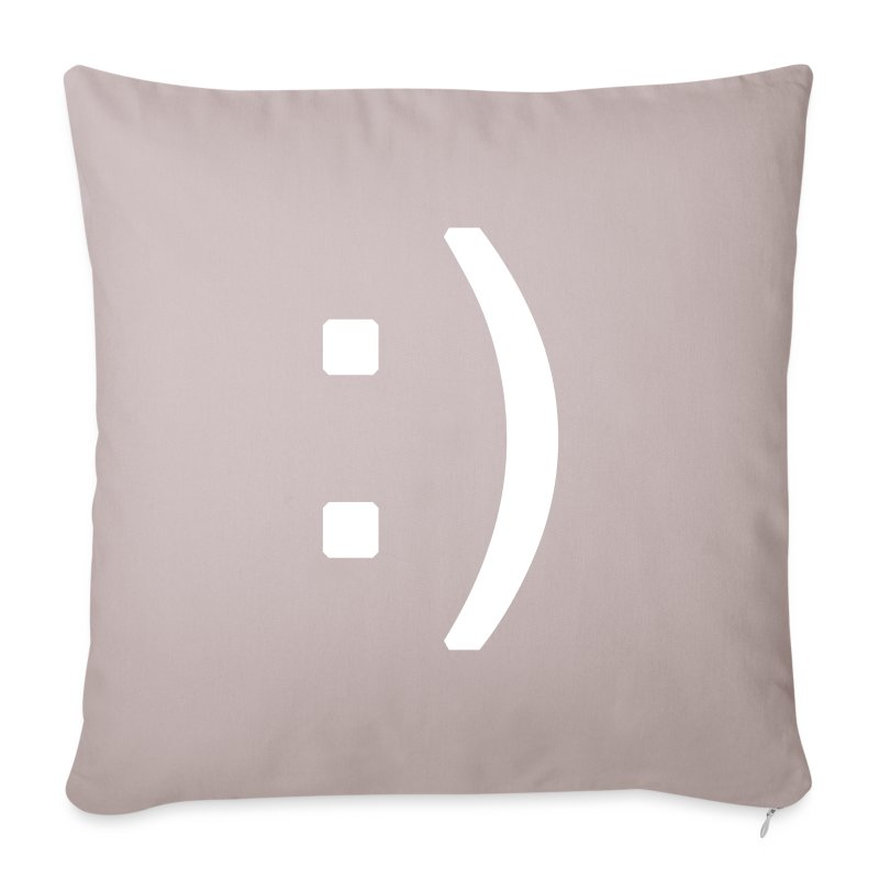 Happy smiley face in text - Sofa pillow cover 44 x 44 cm