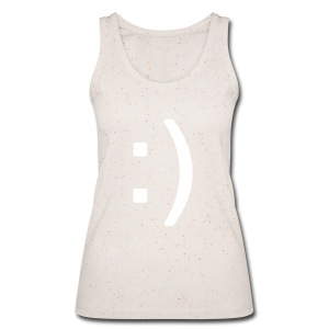 Happy smiley face in text - Women's Organic Tank Top by Stanley & Stella