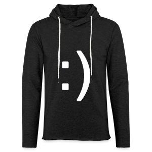 Happy smiley face in text - Light Unisex Sweatshirt Hoodie