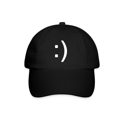 Happy smiley face in text - Baseball Cap