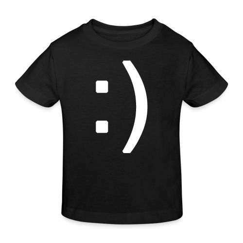 Happy smiley face in text - Kids' Organic T-shirt