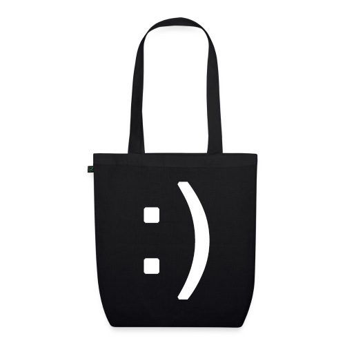 Happy smiley face in text - EarthPositive Tote Bag