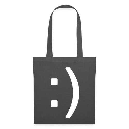 Happy smiley face in text - Tote Bag