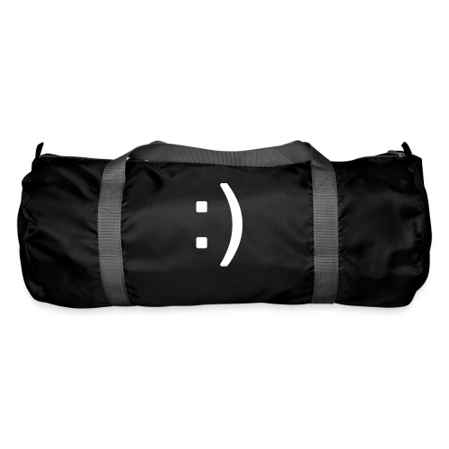 Happy smiley face in text - Duffel Bag
