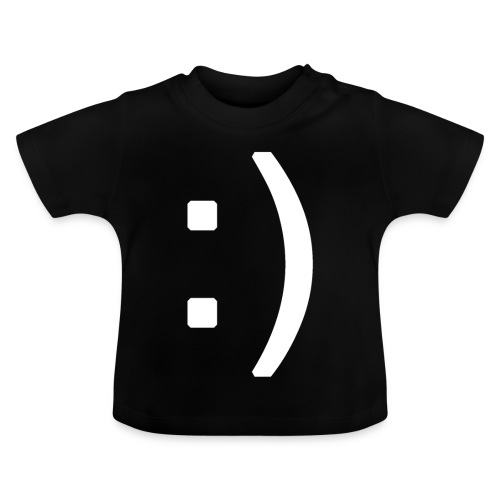 Happy smiley face in text - Baby T-Shirt