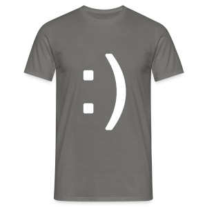 Happy smiley face in text - Men's T-Shirt