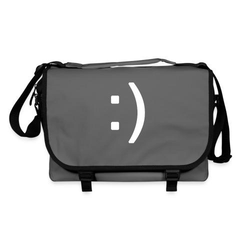 Happy smiley face in text - Shoulder Bag