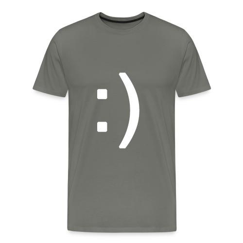 Happy smiley face in text - Men's Premium T-Shirt
