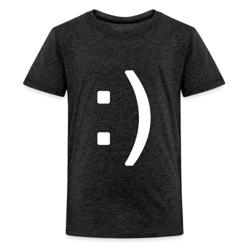 Happy smiley face in text - Teenage Premium T-Shirt