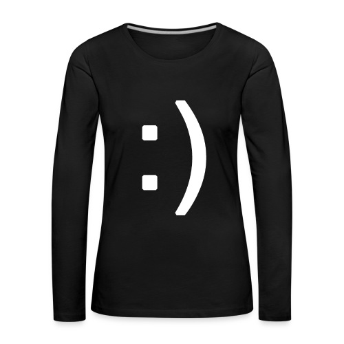 Happy smiley face in text - Women's Premium Longsleeve Shirt
