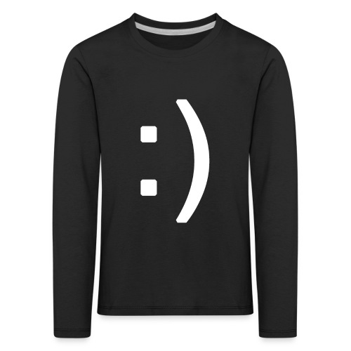 Happy smiley face in text - Kids' Premium Longsleeve Shirt