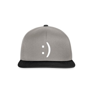 Happy smiley face in text - Snapback Cap