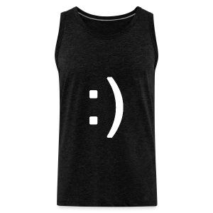 Happy smiley face in text - Men's Premium Tank Top
