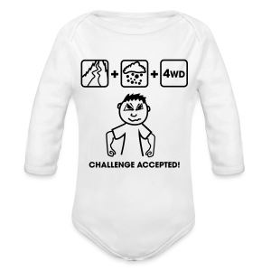 4WD Challenge accepted FlexShirt HQ - Baby Bio-Langarm-Body